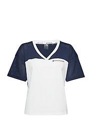 Mesh T-Shirt panel, - SPORT NAVY