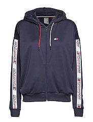Zip Through Hoody with Taping - SPORT NAVY