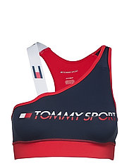 Sports Bra Logo Low Lingerie Bras & Tops Sports Bras - For All Activities/support Röd TOMMY SPORT