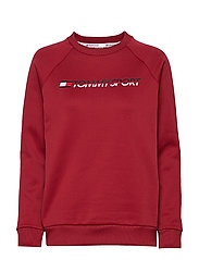FLEECE CREW NECK - BIKING RED