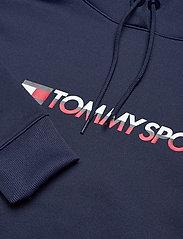 Tommy Sport - CROPPED FLEECE HOODY - hoodies - black iris - 2