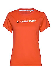 PERFORMANCE CHEST LOGO TOP - BRIGHT VERMILLION