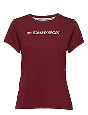 PERFORMANCE CHEST LOGO TOP - DEEP ROUGE