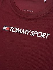 Tommy Sport - PERFORMANCE CHEST LOGO TOP - logo t-shirts - deep rouge - 2