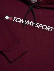 Tommy Sport - CROPPED HOODY LOGO - hoodies - deep rouge - 2