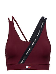 LOW SUPPORT TAPE BRA - DEEP ROUGE