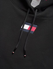 Tommy Sport - CROPPED HOODY FLAG LOGO - hoodies - pvh black - 2