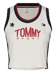 CROP TOMMY TANK TOP - IVORY