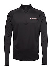 1/4 ZIP BASE LAYER T - PVH BLACK