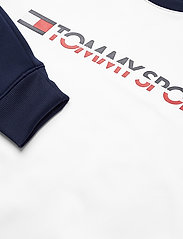 Tommy Sport - FLEECE TAPE CREW - longsleeved tops - pvh white - 2