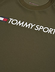 Tommy Sport - TRAINING TOP MESH LOGO - t-shirts - army green - 2
