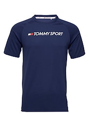 TRAINING TOP MESH LOGO - BLUE INK
