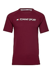 TRAINING TOP MESH LOGO - DEEP ROUGE