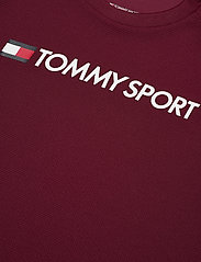 Tommy Sport - TRAINING TOP MESH LOGO - t-shirts - deep rouge - 2