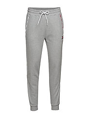 PIPING FLEECE CUFFED PANT - GREY HEATHER