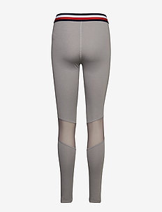 Legging with mesh Full Length - GREY HEATHER