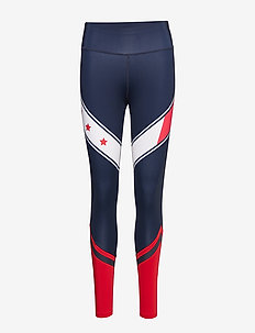 BLOCK LEGGING STARS - compression tights - sport navy