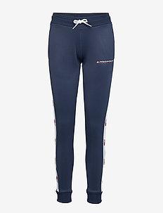 FLAG TAPE JOGGER - pants - sport navy