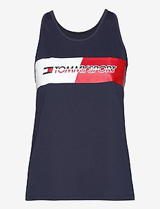 GRAPHIC FLAG TANK TOP - topjes - sport navy