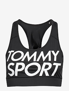 SPORTS BRA LOGO MID - sport bras: low - pvh black