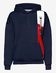 GRAPHIC FLAG HOODY - hoodies - sport navy