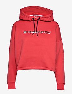 CROPPED FLEECE HOODY - hoodies - cardinal