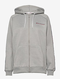 FLEECE ZIP UP HOODY - GREY HEATHER