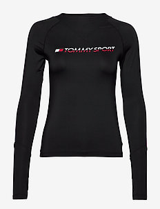 BASE LAYER WITH TAPE - logo t-shirts - pvh black