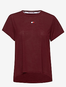 PERFORMANCE LBR TOP - t-shirts - deep rouge