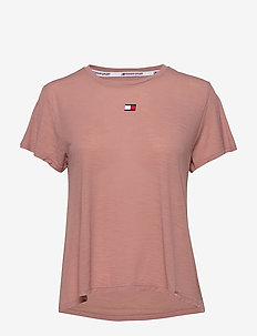 PERFORMANCE LBR TOP - t-shirts - red dust