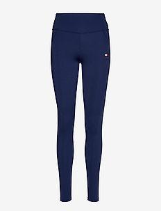 BUTT LIFT LEGGING - running & training tights - blue ink