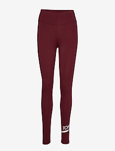 FULL LENGTH LEGGING - running & training tights - deep rouge