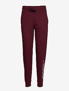 CUFF FLEECE JOGGER LOGO - pants - deep rouge