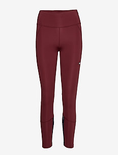 HIGHWAISTED TAPE LEG - running & training tights - deep rouge