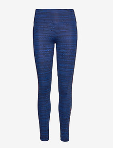 HIGH SUPPORT PRINTED LEGGING - running & training tights - blue ink aop