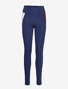HIGHWAIST TRAINING L - running & training tights - blue ink