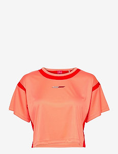 FASHION CROPPED TOP - hauts courts - island coral