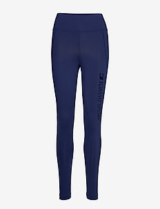 HIGHWAISTED MESH LEGGING PREMIUM - running & training tights - blue ink