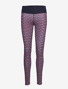 PRINTED LEGGING - running & training tights - blue ink
