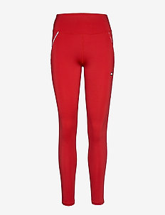 LEGGING PIPING - running & training tights - primary red