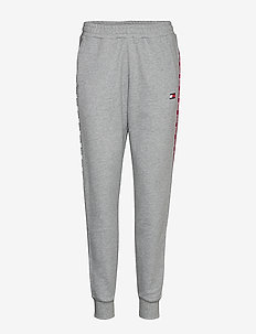 CUFFED PANT PIPING - pants - grey heather