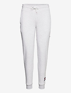 CUFFED FLEECE PANT FLAG LOGO - pants - ice heather
