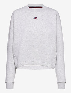 CROPPED CREW LOGO - sweatshirts - ice heather