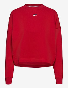 CROPPED CREW LOGO - sweatshirts - primary red