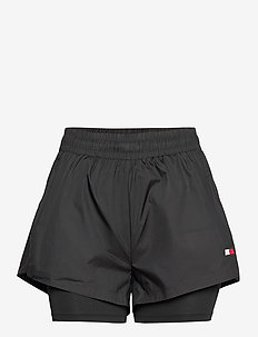 2-IN-1 WOVEN SHORT - training shorts - pvh black