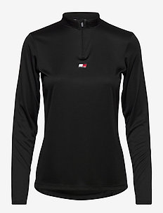 1/4 ZIP LS PERFORMANCE TOP - longsleeved tops - pvh black