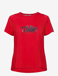 COTTON MIX TOP LOGO - t-shirts - primary red