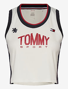 CROP TOMMY TANK TOP - crop tops - ivory