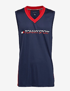 Tank with Back Detai - SPORT NAVY