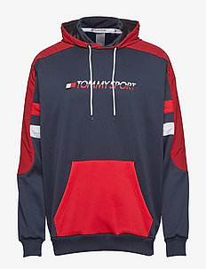 BLOCK HOODY LOGO - TRUE RED